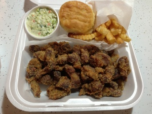 Fried Gizzards In Their Greasy Glory